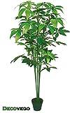 Decovego Schefflera Aralie Kunstpflanze Kunstbaum Künstliche Pflanze Schefflera Arboricola 150cm