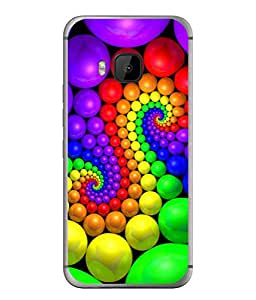 FUSON Designer Back Case Cover for HTC One M9 :: HTC One M9S :: HTC M9 (Colourful Stones Easter Egg Games Children Enjoy Playing)