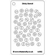 "That's Crafty Dinky Stencil 3""X4.75""-Screwheads"