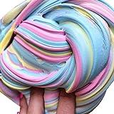 DOLDOA Fluffy Slime Duft Stress Relief Nein Borax Kinder Spielzeug Schlamm Spielzeug (2)