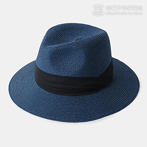 zhangyongsombrero-de-paja-femenino-verano-sombreros-blancos-y-tai-tau-wai-playa-sombrilla-ajustable-