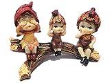 Cute girls act like Gandhi's Monkeys polyresin figureins for Home Décor