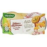 Blédina Idées de Maman Carottes Riz Jambon dès 8 Mois 2x200g - Lot de 4