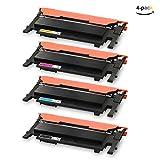 ONINO Toner für Samsung CLT-406 Toner Kompatibel Samsung CLT-P406C CLT-K406S CLT-K406S SL-C460W CLT-P406C SL-C460FW SL-C467W CLP-360 CLP-360N CLP-365 CLP-365W CLP-368 CLX-3300 CLX-3305 CLX-3305FN (1 Schwarz,1 Cyan,1 Magenta,1 Gelb)