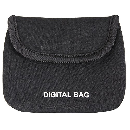LAOYE mini Reisetasche klein Digital BAG mit Klettband schwarz für Electronisches Zubehöre (Beleuchtung Kleine Anhänger)