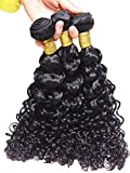 Meylee Postiches Meylee mode européenne 100 % 3 faisceaux Water Wave 300 grammes totalement Inde cheveux humains 8 10 12