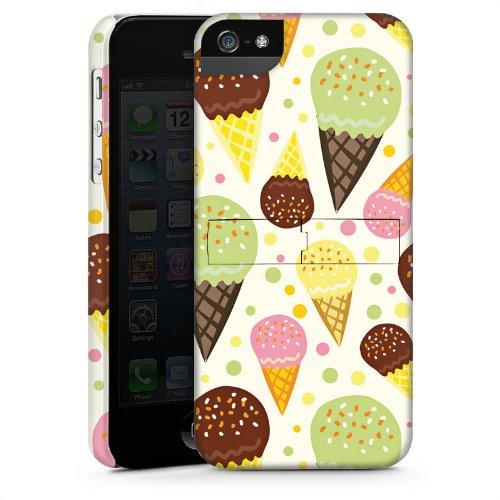 Apple iPhone 5s Housse Étui Protection Coque J'aime la glace ! Été Graphique CasStandup blanc