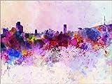 Posterlounge Forex-Platte 130 x 100 cm: Seoul-Skyline von Editors Choice