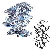 Fensterdeko 2 Stück Kristall Eiszapfen Octagon Cluster mit Ösen zum aufhängen ø 20mm L.40mm Pendel Sonnenkristall Regenbogenkristall Feng Shui Kristallglas Mobile Koppen