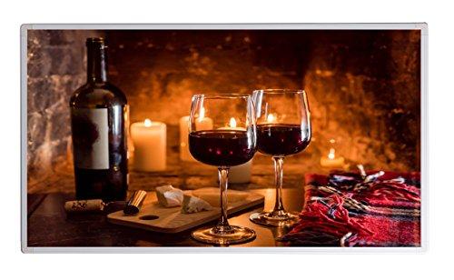 dheizung im Shop Infrarot Heizung 600 Watt Wein und Käse Fern Infrarotheizung - 5 Jahre Herstellergarantie- Elektroheizung mit Überhitzungsschutz -Heizt bis 18m² - GS durch TÜV ()