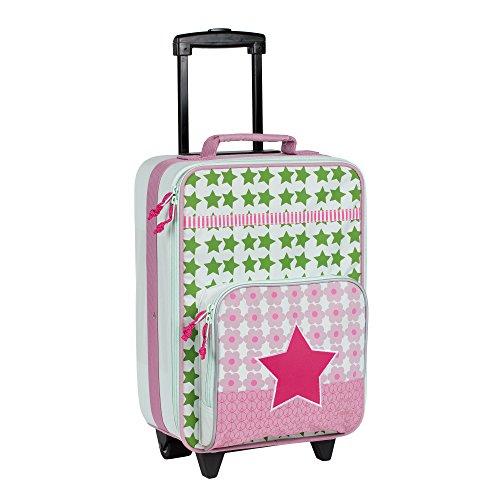 LÄSSIG Kinderkoffer/ Trolley Kindergepäck/ Reisekoffer mit Teleskopgriff und Rollen/Kids Trolley, starlight magenta