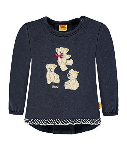 Steiff Mädchen Sweatshirt 1/1 Arm, Blau (Marine 3032), 68