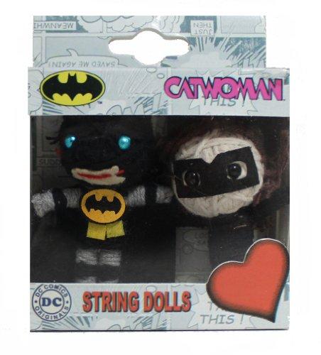 Batman-catwoman DC Comics Originals String Schlüsselanhänger mit Puppe (2er Pack)
