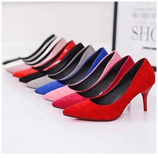 76517a56083 ¡Oferta de liquidación! Mujeres de Covermason Nude Fashion Elegant Ladies  Office Trabajo Flock High Heels Shoes(38 EU