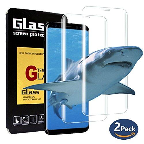 Pellicola Vetro Temperato Samsung Galaxy S8, Hanbee [2 Pack] Pellicola Protettiva in Vetro Temperato Per Samsung Galaxy S8, 99%HD, Vetro con Durezza 9H, Spessore di 0.33mm