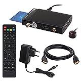 SATELLITEN SAT RECEIVER HB DIGITAL DVB-S/S2 SET: Hochwertiger mini DVB-S/S2 Receiver Opticum AX300 mini (v.2) + HDMI Kabel von HB-DIGITAL mit Ethernet Funktion und vergoldeten Anschlüssen (HD Ready, HDTV, Conax Karten Leser, HDMI, USB 2.0, 12v/230V, Koaxial Ausgang)