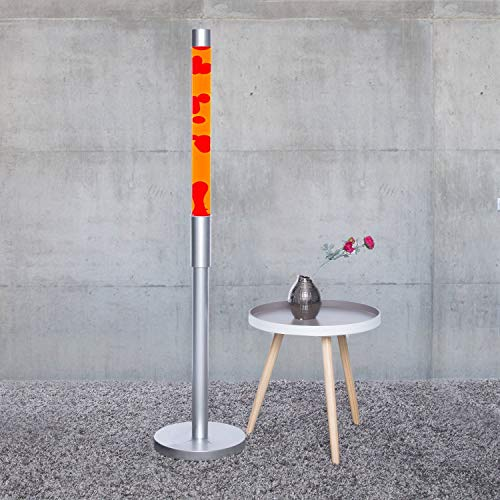 """XXL Lavalampe""""Paul"""" 1,28 m groß, Flüssigkeit orange, Wachs rot Lavalampen Lavaleuchte Vulkan Lampen"""