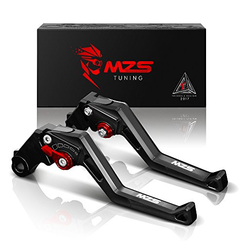MZS Short Brake Clutch Adjustment Levers for Triumph Speed Triple R  2012-2015 | Daytona 675 R 2011-2017 | Speed Triple 1050 2011-2015 Black