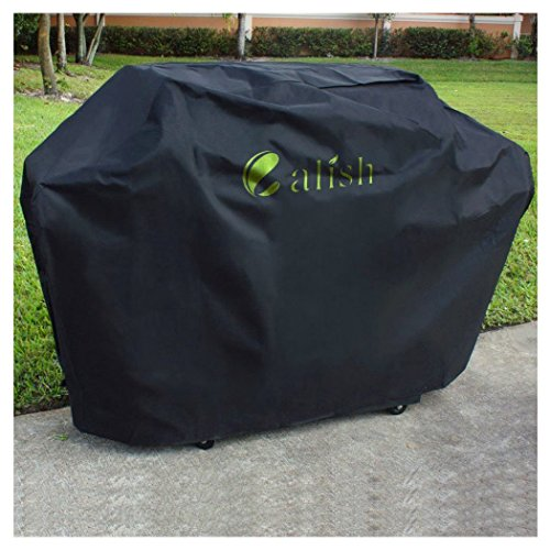 Calish Barbecue Cover Heavy Duty Waterproof Breathable Oxford fabric Extra Large 170cm (Black)