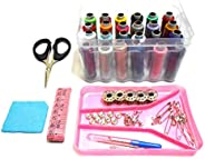 GOELX Sewing kit, Daily Needs Multipurpose Travel Kit with All Accessories, Sewing Threads & Stitching Mat