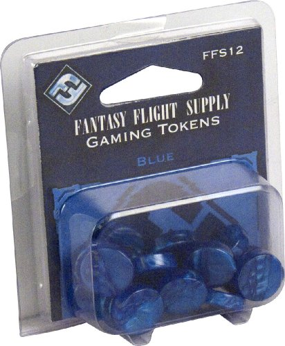Fantasy Flight Supply: Blue Gaming Tokens