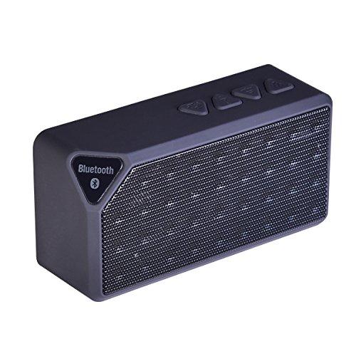 [DalTech] External SD Card Portable Wireless Bluetooth Speaker (Black)