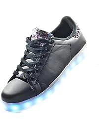 Envio 24 Horas Usay like Zapatillas LED Con Luces Carga USB Negro/Multicolor Niña Chica Mujer Unisex Talla 36 hasta 41 Envio Desde España