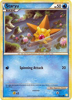 Pokemon Legend Heartgold & Soulsilver Single Card Staryu #84 Common [Toy]