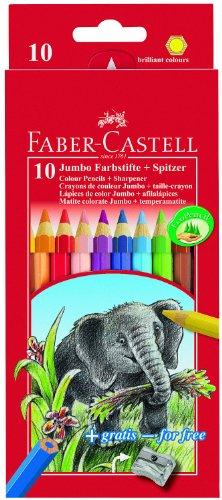 faber-castell-111210-crayons-de-couleur-jumbo-elephant-etui-de-10-pieces-taille-crayon