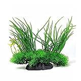Deko Wasserpflanzen - SODIAL(R)Aquarium Deko Wasserpflanzen Silikon Kuenstliche Koralle Pflanzen Aquariumpflanzen Kunstpflanze Gruen