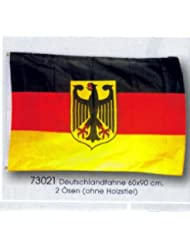 Fahne Flagge Deutschland mit Adler 60 x 90 cm mit 2 Ösen