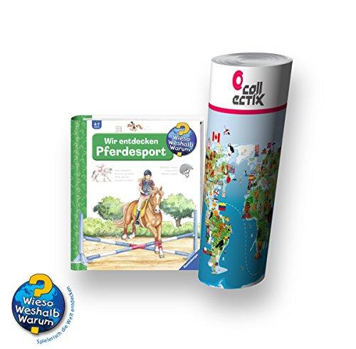 Wieso? Weshalb? Warum? Ravensburger Pferde Buch 4-7 Jahre | Wir Entdecken Den Pferdesport + Weltkarte