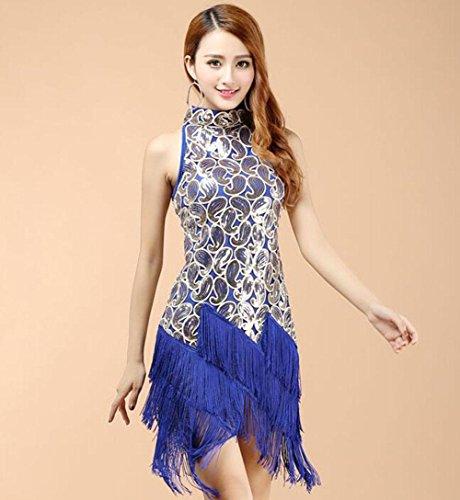FGDJTYYJ Latin Dance Kostüm weibliche Praxis Kleidung Latin Dance Rock Erwachsenen Kostüme, - Latin Tänzer Für Erwachsenen Kostüm