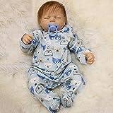 LUCKYFANWU Simulationspuppe/realistische wiedergeborene Puppe/schlafendes Baby/Jungenmädchen, 20 Zoll, kann Sich hinsetzen, kann Sich hinlegen, Babybegleiterspielwaren, Jungenmädchenspielwaren