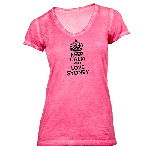 t-shirt-femme-col-v-keep-calm-and-love-sydney-mal-du-pays-idee-cadeau-australie-rouge-small