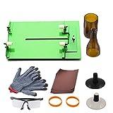 Kit de herramientas para cortar botellas de vino, para vidrieras, para manualidades de cristal, con gafas y guantes protectores