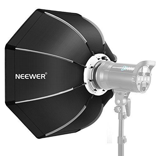 Neewer 65 cm Faltbare Achteckige Softbox mit Bowens Montage Speedring, Tragetasche für Speedlite Studio Blitz Monolight, Porträt und Produktfotografie -