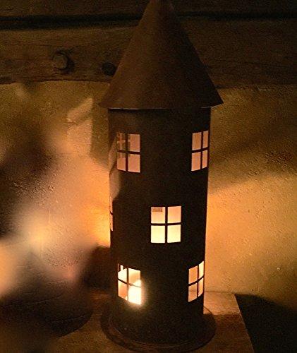 Antikas | Leuchtturm aus Edelrost | Laterne/Windlicht für die Haustür | Antik wirkend -