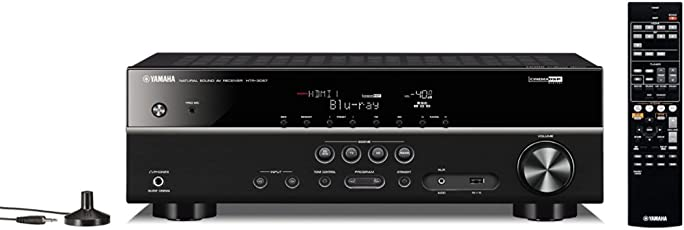 YAMAHA HTR-3067 5.1CH AV Receiver with Dolby TrueHD, DTS-HD Master Audio, USB, 3D & Ultra HD 4K Passthrough