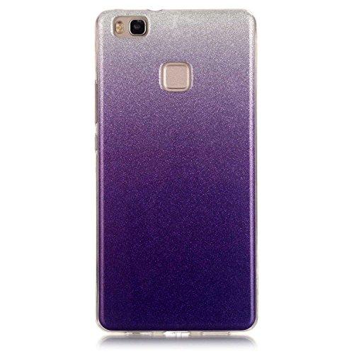Preisvergleich Produktbild BONROY ® TPU Schutzhülle für Huawei P9 lite case Wallet Schale Tasche Silikon Back Cover Etui Skin Shell Handyhülle Intarsien Weich - Elefant Blume
