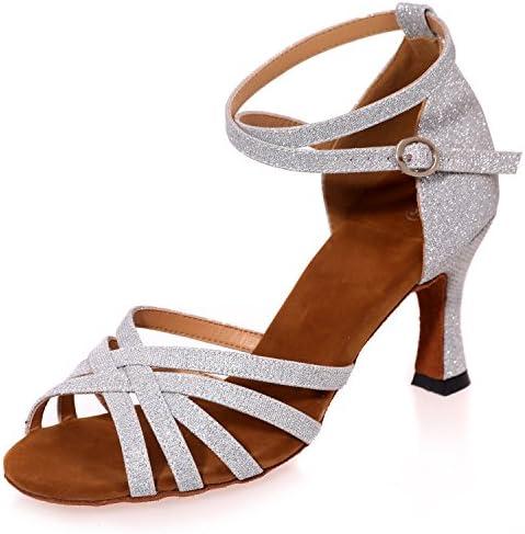 Elobaby Zapatillas para Mujer Zapatos De TacóN Bajo Mediados De Jazz Plataforma Personalizada Peep Toe SatéN 34...