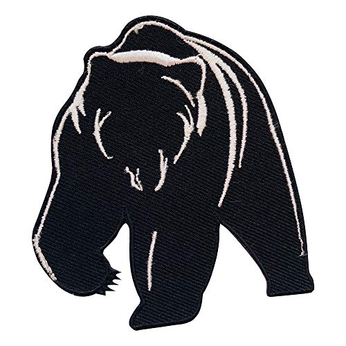 REAL EMPIRE Echter, Empire Grizzly Bär, Eisen auf Patch Sew on Patch Badge Bestickt Patch T-Shirts Jacke Hüte Staubbeutel Patch