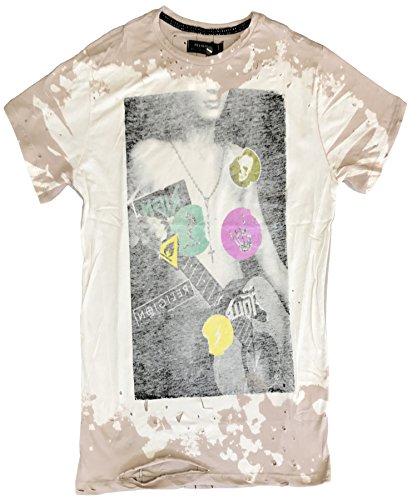 "RELIGION Clothing Herren T-Shirt Shirt ""STICKER"" Grau"