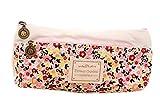 La vogue Bleistift Tasche Federtasche Segeltuch Kosmetik Tasche Klein Geschenk (Rosa2)