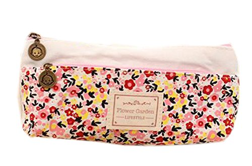 Preisvergleich Produktbild La vogue Bleistift Tasche Federtasche Segeltuch Kosmetik Tasche Klein Geschenk (Rosa2)