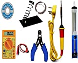 Inditrust Soldering iron kit with Multimeter and Desolder pump (7 in 1)