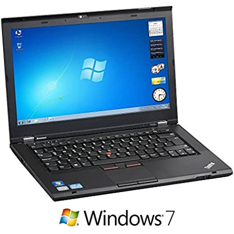 Lenovo Thinkpad T430S Business Notebook (Intel Core i5 dual-core 2.6 GHz, 8 GB RAM, 320 GB HDD, masterizzatore DVD, 35,6 cm (14 pollici) Display 1366 x 768, Windows 7 Professional) 8GB RAM + 320GB HDD ohne OS ENG Tastatur (Ricondizionato Certificato)