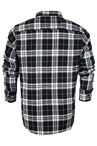 Brave Soul - Chemise casual - Avec col - Manches Longues - Homme Black & White Check