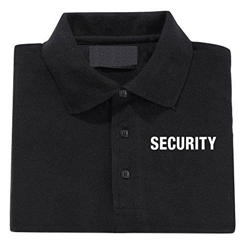 Herren Secuirty Polo shirt [ S- 6XL] (S, Schwarz - Design 1) (Schwarzes Polo Security)