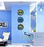 MCHSHOP 3piezas maravilloso mundo submarino extraíble 3d vista ventana película pegatinas de pared decoración del hogar decoración extraíble arte Mural Pape